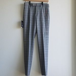 **SOLD**NWT Topman Plaid Gray Trouser Pant Size 28